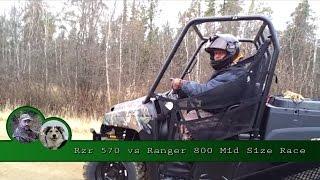 8. Rzr 570 vs Ranger 800 Mid Size Race