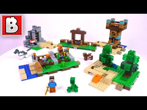 LEGO Minecraft The Crafting Box 2.0 Set 21135 | Unbox Build Time Lapse Review