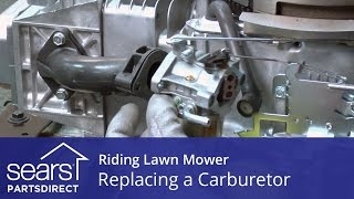 4. Replacing a Carburetor on a Riding Lawn Mower