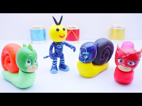 Learn Colors For Children With Pj Masks Wrong Heads Snail