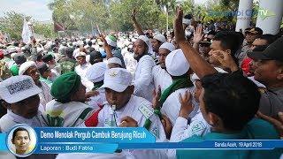 Demo Menolak Pergub Cambuk Berujung Ricuh