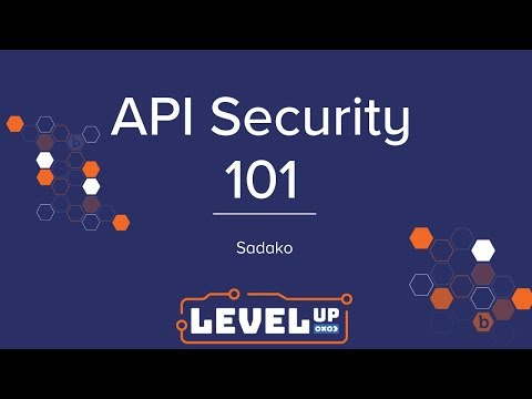 API Security 101 by Sadako