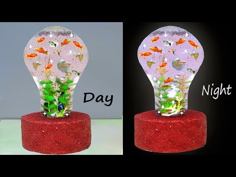 ফিউজ বাল্ব দিয়ে অ্যাকোয়ারিয়াম || How to Make Aquarium in light bulb simple method DIY