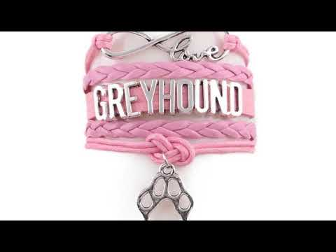 Custom Made Greyhound Leather Wrapped Charm Bracelet