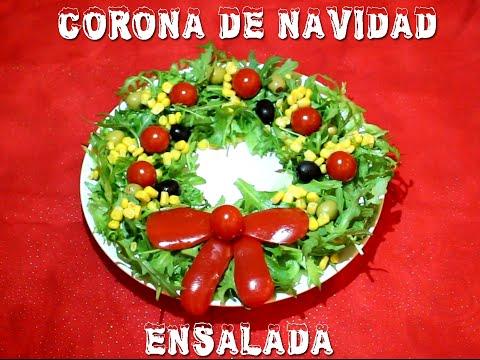 como decorar una corona navidea con ensalada