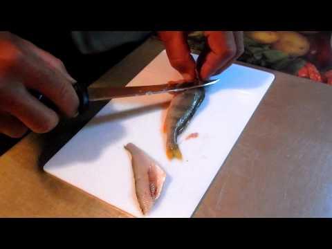 Как разделывать рыбу на филе фото пошагово