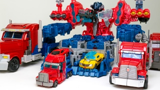 Transformers Cyberverse Optimus Maximus Battle Station Optimus Prime Bumblebee Vehicle Robot Car Toy