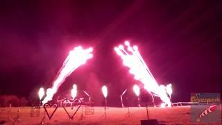 Flammenshow Hochzeit Brenneralm