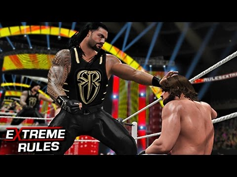 WWE 2K16 Extreme Rules 2016 - Roman Reigns vs AJ Styles WWE World Heavyweight Championship Match!