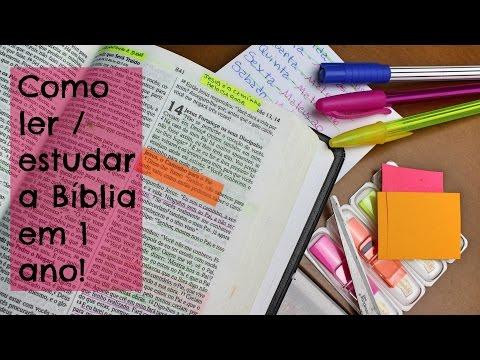 Como Ler/Estudar a BÍBLIA Em 1 Ano