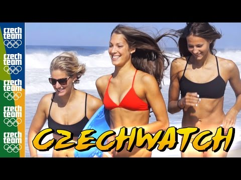 Czech Olympic Swim Team Spoof the Baywatch Intro in