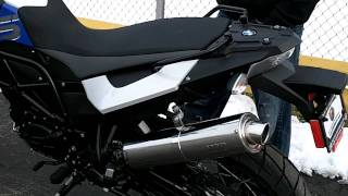 10. SuperTrapp SuperLight Stainless Series Slip-On for BMW F650S, F800GS and R1200GS.MOV