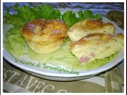 video ricetta: muffins salati senza farina
