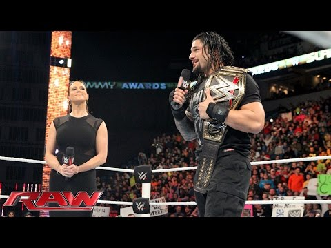 Stephanie McMahon Wipes The Smile Off Roman Reigns' Face: Raw, December 21, 2015