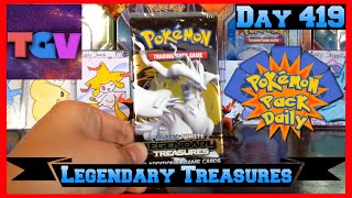 Pokemon Pack Daily Legendary Treasures Booster Opening Day 419 - Featuring TheGalacticVoid by ThePokeCapital