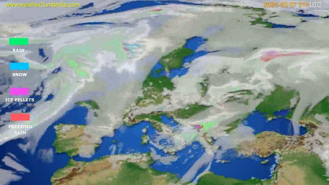 Precipitation forecast Europe // modelrun: 12h UTC 2020-03-06