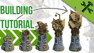 HUGE Fantasy Wizard Tower - Build Tutorial [Advanced]