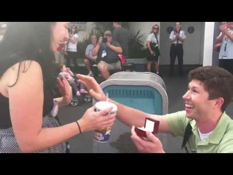 Mark's Disney proposal to Janine with Push the Talking Trashcan