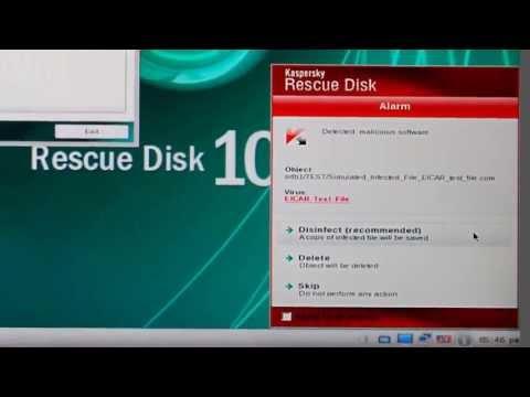 Kaspersky Rescue Disk    - Download - Burn - Scan -
