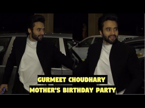 Jackky Bhagnani Attends Gurmeet Choudhary Mother's Birthday Party