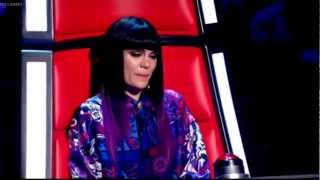 Jessie J getting emotional during the audition The Voice UK