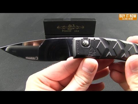 "Piranha X Automatic Knife Black (3.3"" Mirror Serr)"