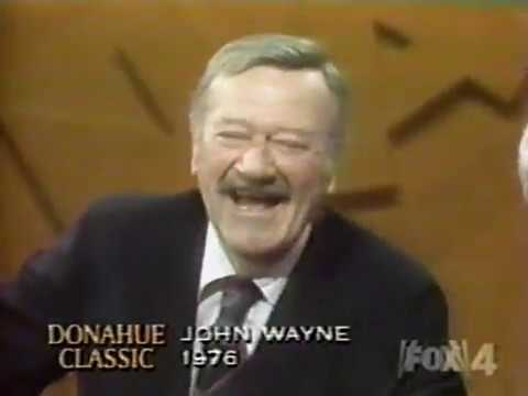 Phil Donahue interviews John Wayne (1976)