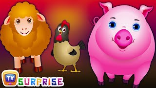 Surprise Eggs Nursery Rhymes Toys  Wheels On The Bus - Wonders Of The World  Learn Farm Animals and Animal Sounds  ChuChu TV