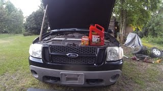 How to change oil 2001 Ford Explorer Sport 4 0L V6