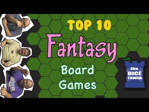 ten - Tom Vasel, Sam Healey, and Zee Garcia take a look at their favorite fantasy themed board games. Buy great games at http://www.coolstuffinc.com Find more reviews and videos at http://www.dicetower...