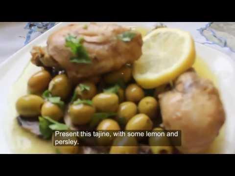 poulet a la chermola / tajine de poulet roti aux olives, cuisine ...