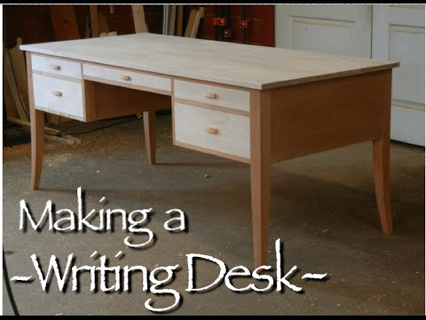 furniture - This video shows the making of a Custom Writing Desk. This Writing Desk is handmade of solid cherry and tiger maple. Each species was consecutively cut from ...