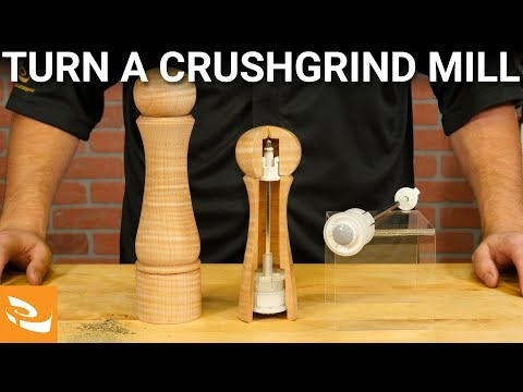 Turning a Crushgrind Salt/Pepper Mill | Woodturning How-to