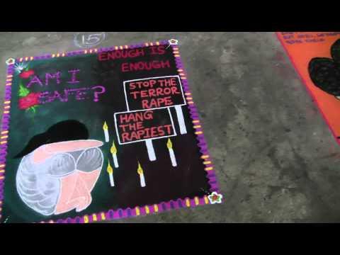 Video RANGOLI Art Using for Women's  Day Message by Female Student of PRMIT & R Badnera download in MP3, 3GP, MP4, WEBM, AVI, FLV January 2017