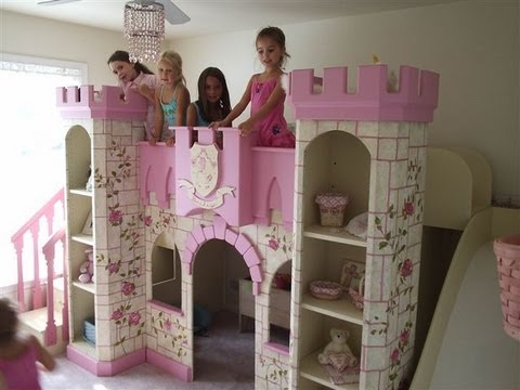 beds - Princess Room Makeover for Little Girls Perfect Disney Princess Room Princess bed, Princess Castle Theme Bed, Princess Castle Playhouse loft bed, Princess Ca...