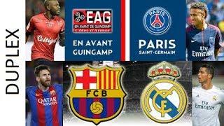 Je vous propose un live de 20h45 à 00h00, les 2 matchs se superposeront d'une mi-temps. 20h45-22h55 : Guingamp - Paris SG...