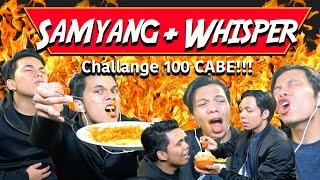 Video SAMYANG 100 CABE + WHISPER CHALLENGE INDONESIA | gen halilintar MP3, 3GP, MP4, WEBM, AVI, FLV Oktober 2017