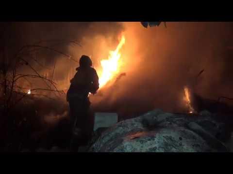 Украинские силовики обстреляли пожарный автомобиль в Петровском районе г. Донецка