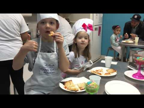 Pizza And Cupcakes At Young Chefs Academy