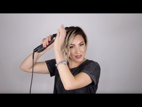 Short hair styles - Aveda How-To  Sleek Accent Curl Tutorial for Short Hair with Chloe Brown