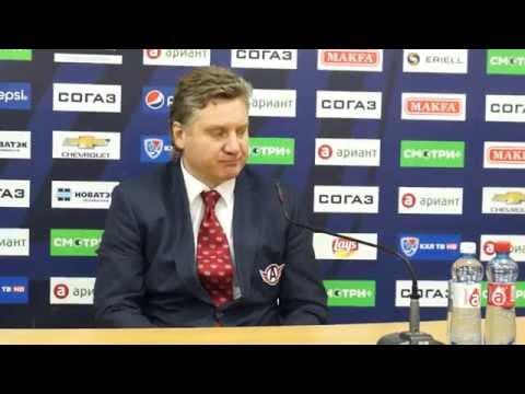 """Пресс-конференция. Трактор - Автомобилист. Аркадий Андреев: """"Сейчас каждый матч - как плей-офф!"""""""