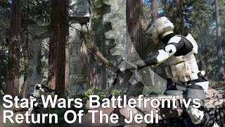 Star Wars: Battlefront vs Return of the Jedi Speeder Bike Mash-Up