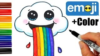 Download Lagu How to Draw a Cloud Puking Rainbow Cute and Easy Mp3