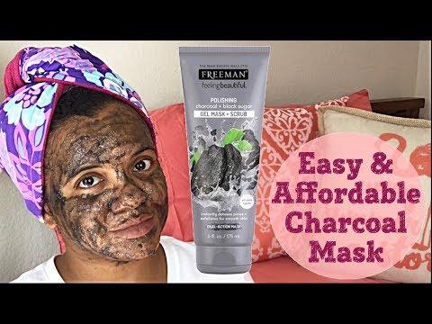 Freeman Charcoal and Black Sugar Gel Mask Scrub   First Impression & Review