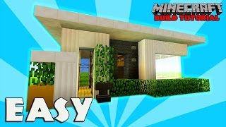 Minecraft: How To Build A Small Modern House Tutorial (easy, cute, compact minecraft house)