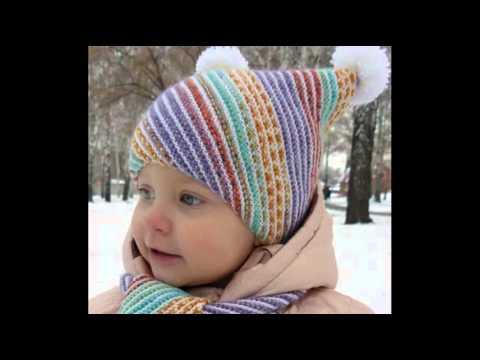 Вязание классных шапочек для детей видео