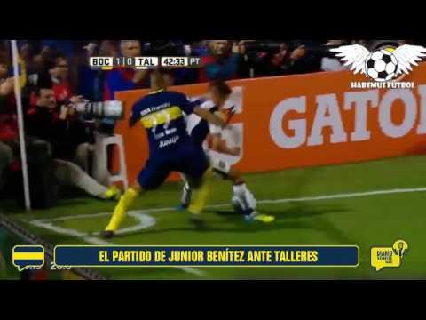 El partido de Junior Benítez ante Talleres
