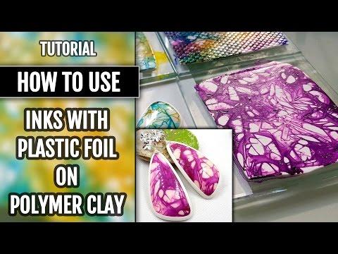 fimo - come dipingerlo con l'inchiostro e creare gioielli favolosi