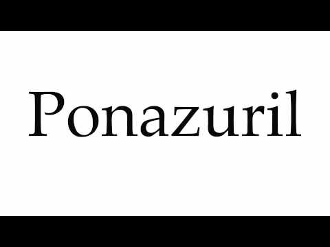 How to Pronounce Ponazuril