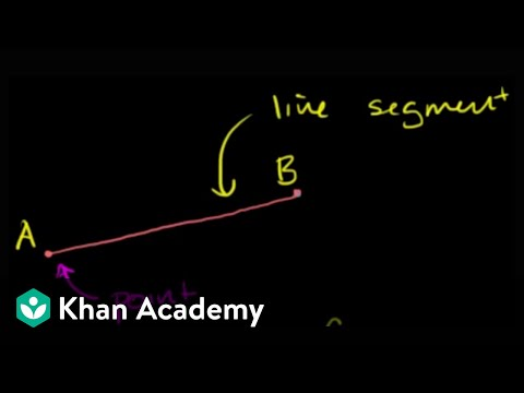 geometry - Learn more: http://www.khanacademy.org/video?v=il0EJrY64qE Understanding basic ideas in geometry and how we represent them with symbols.